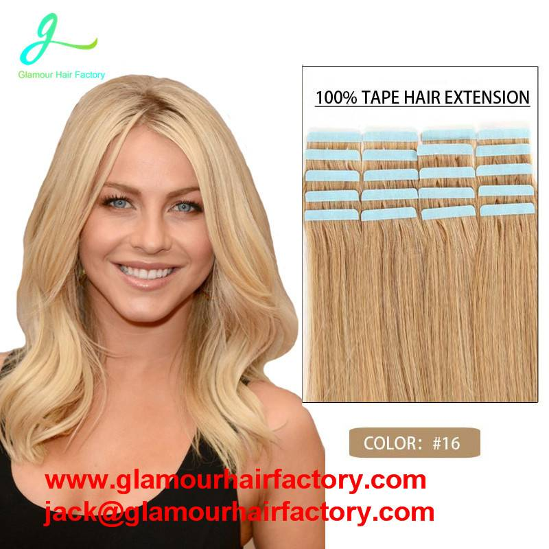 Wholesale Remy Tape Hair Extensions 12-26inch Tape in Human Hair Extension Straight PU Hair Skin Wef