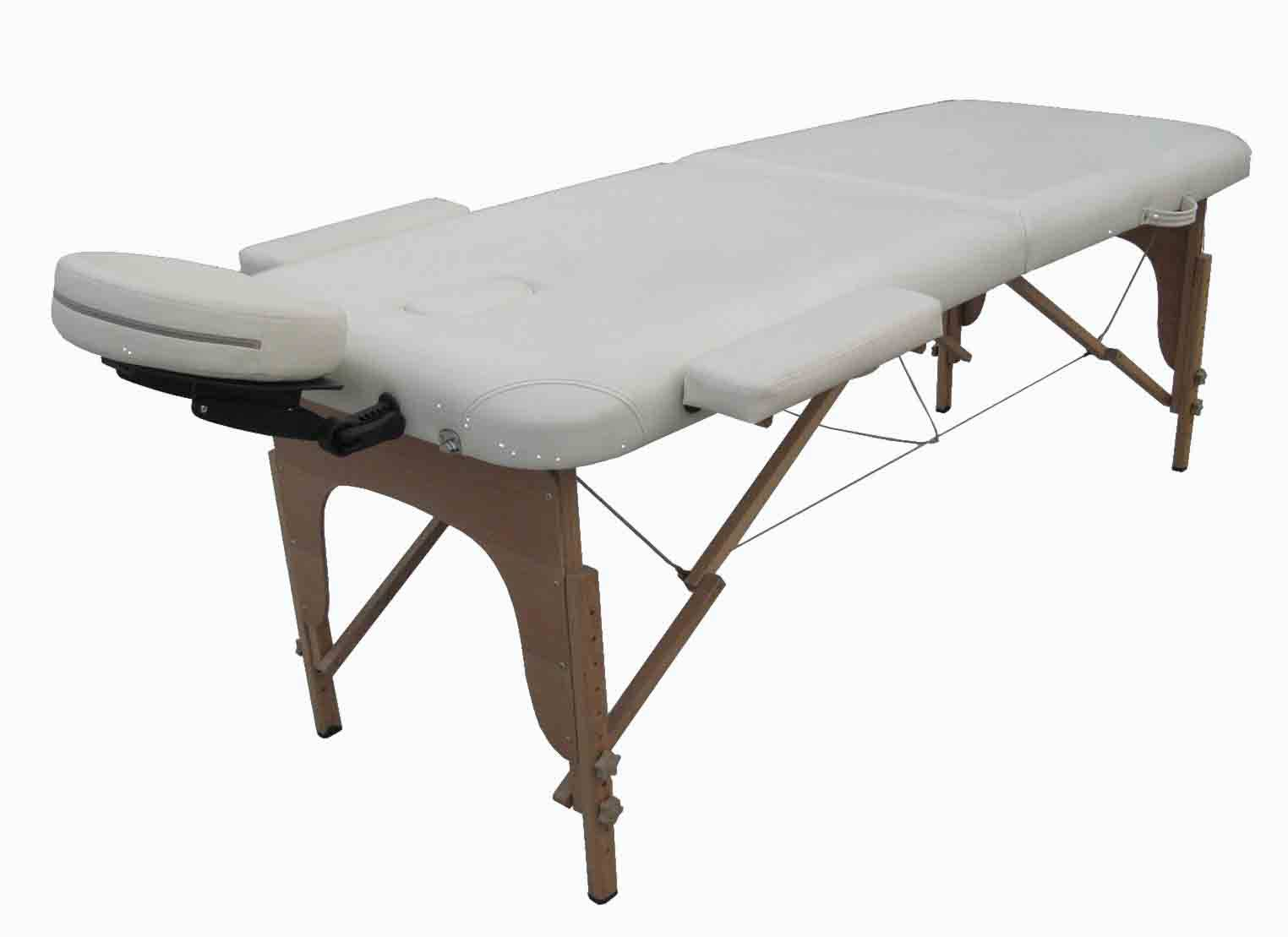 2-section wood portable massage table
