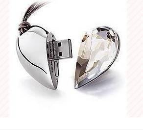 Heart Style Jewelry USB Flash Drive 2GB