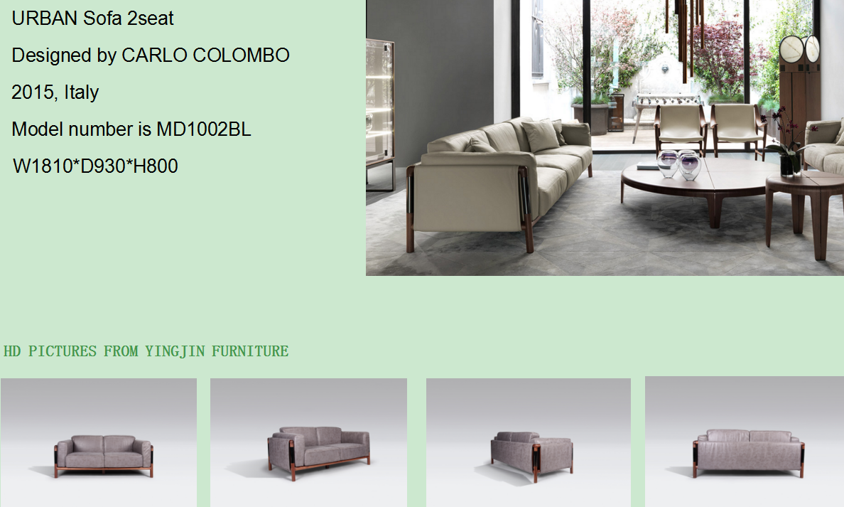 Urban sofa available in 1+2+3 style