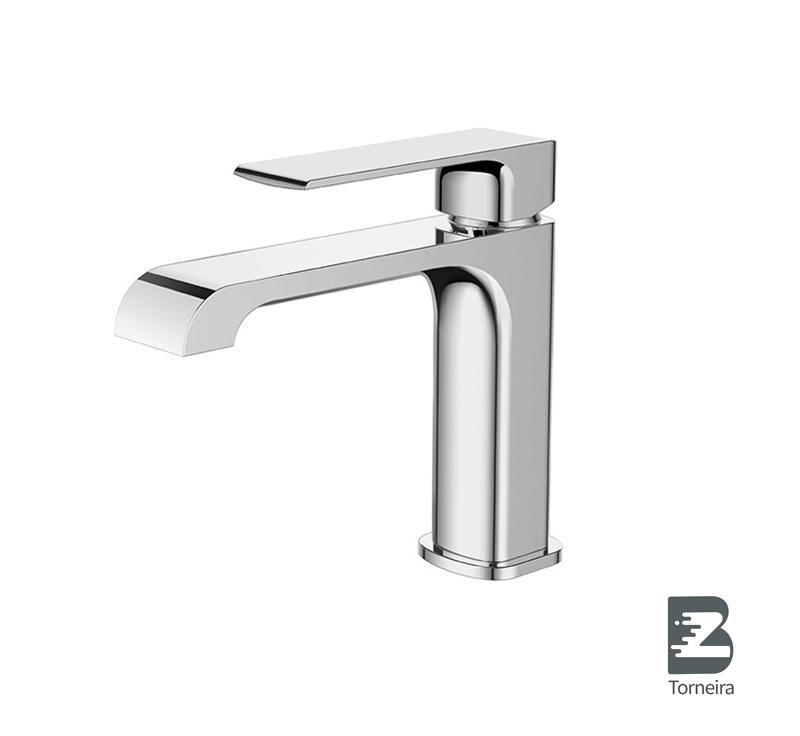 L-6004 Single-Handle Bathroom Water Tap Basin Faucet in Chrome
