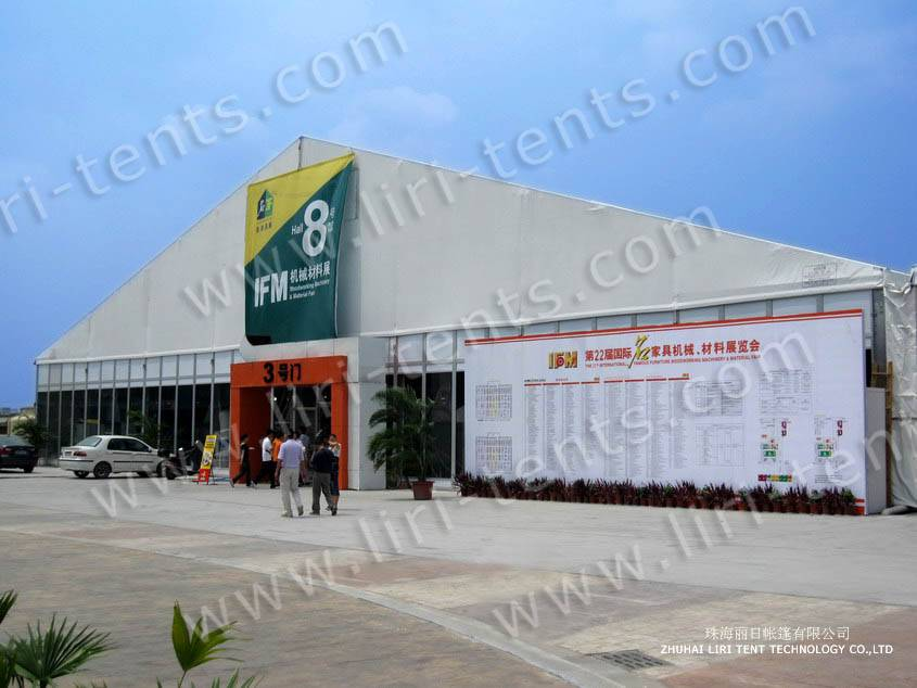 Large Exposition Tent Clear Span in Furniture Exposition