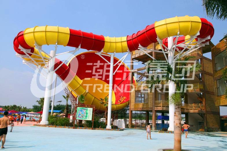 Fiberglass Tornado water slide for water theme park