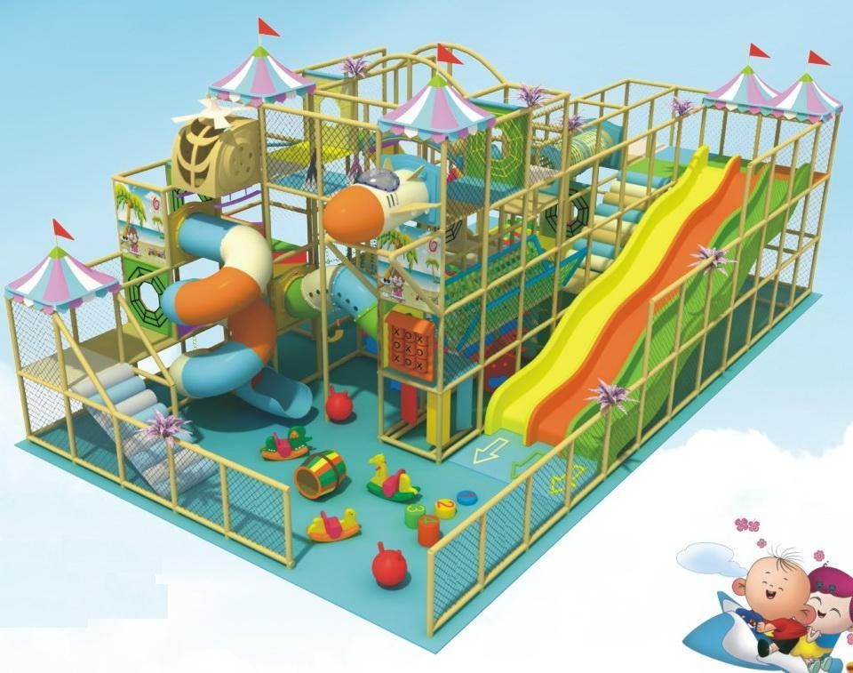 Three layers indoor playground toys