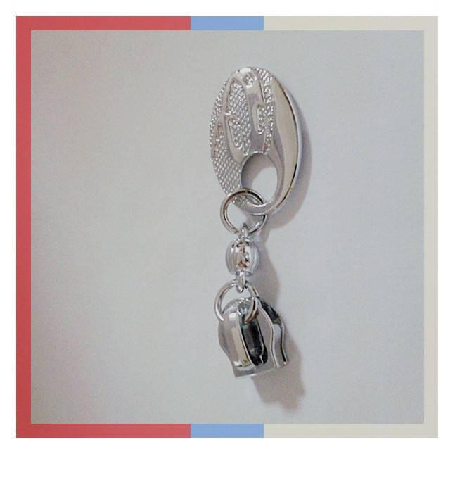 Zinc alloy non lock reversible zipper slider,customized metal zipper pulle