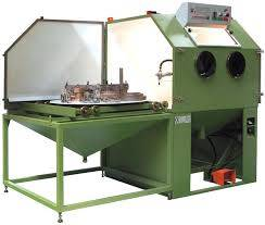 Rotary Trolley Table Shot/Sand Blasting Machine