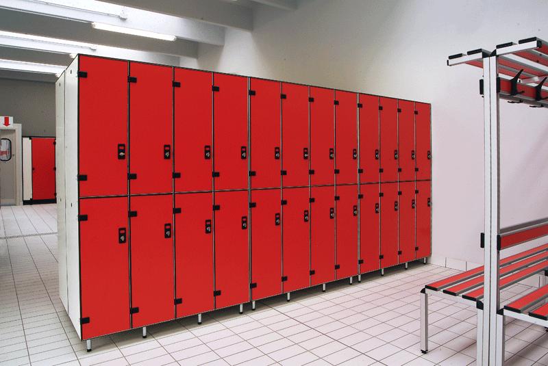 Rich-Lees changing room door locker/pool locker cabinet hpl clothes locker cabinet