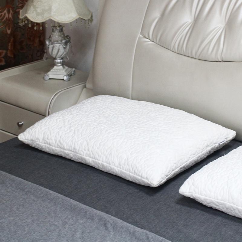 discount stock retangular shredded memory foam pillow with bamboo fabric cover
