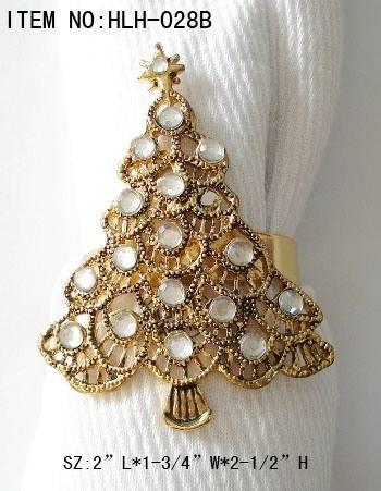 Christmas Tree* Acrylic Daimond *metal napkin ring