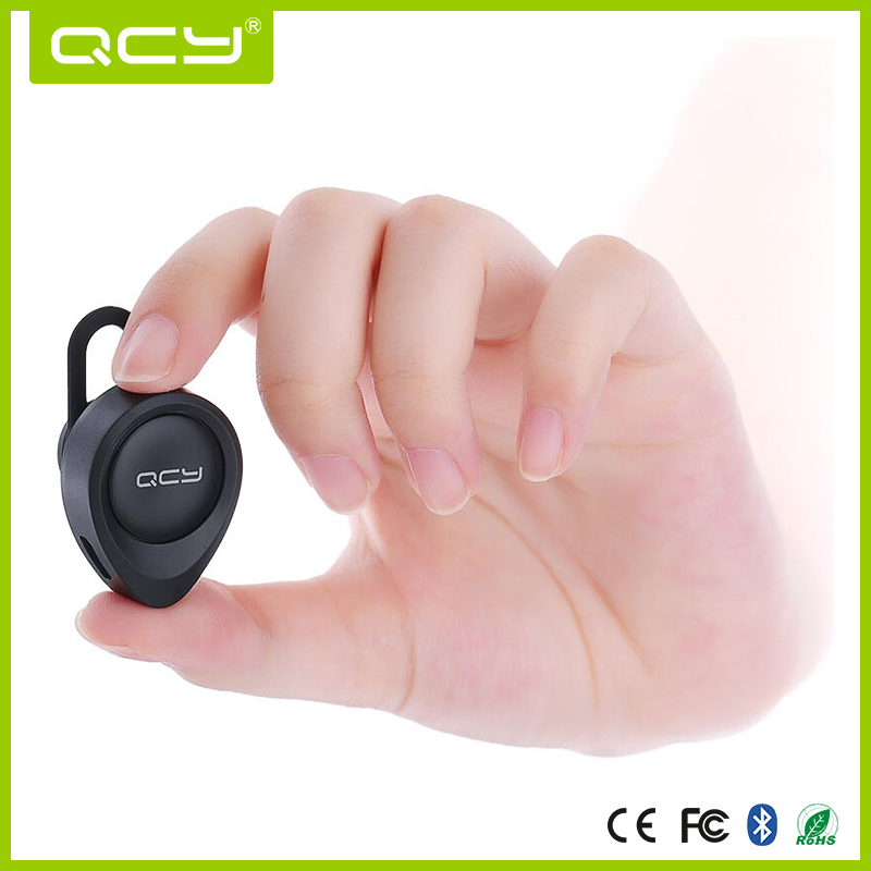 QCY J11 Bluetooth Earphone, Wireless Bluetooth Single Ear Headset Headphone Mic
