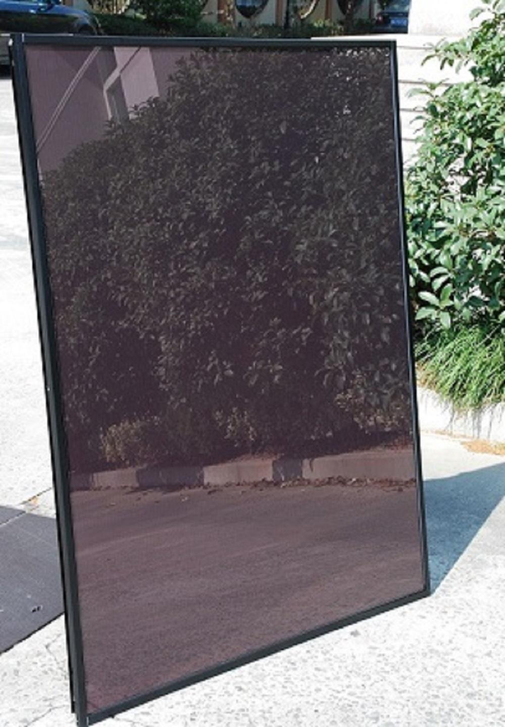 110W single glass with aluminum frame amorphous silicon thin film solar panel