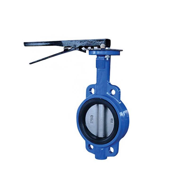Wafer cast iron butterfly valve