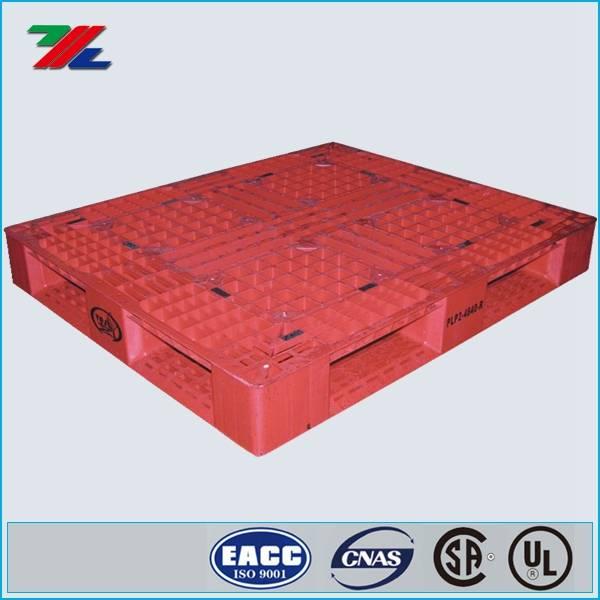 High Density Virgin Polyethylene 48 L X 40 In W, Red Pallet