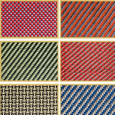 Carbon aramid fiber hybrid fabric