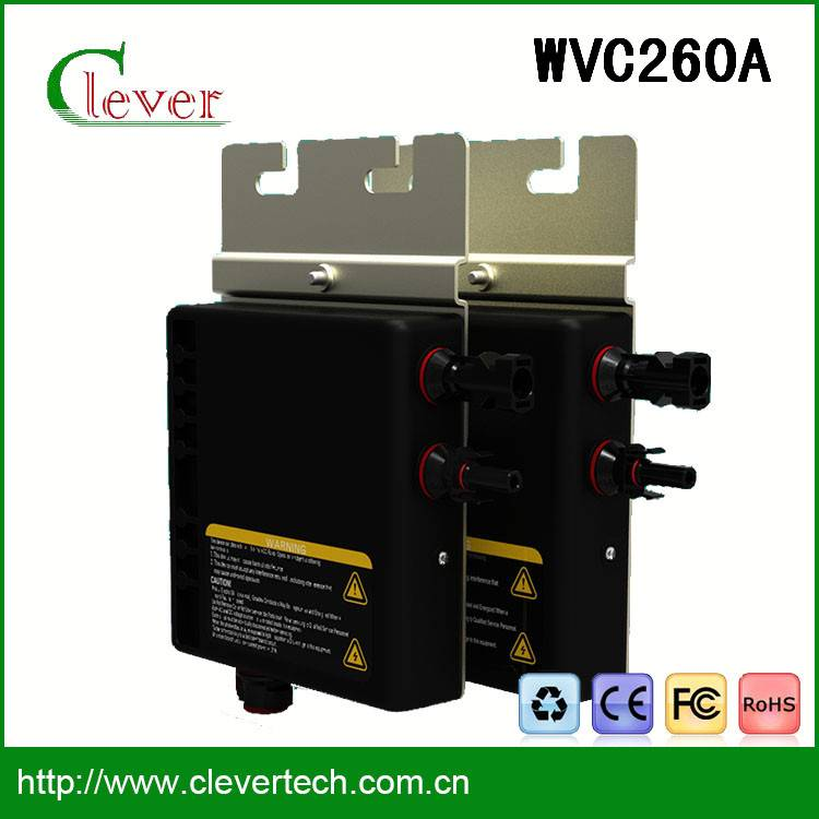 High quality mini solar panel inverter wvc260a 25 years lifetime waterproof ip67