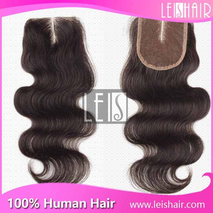 Brazilian middle part lace closure hair for black women