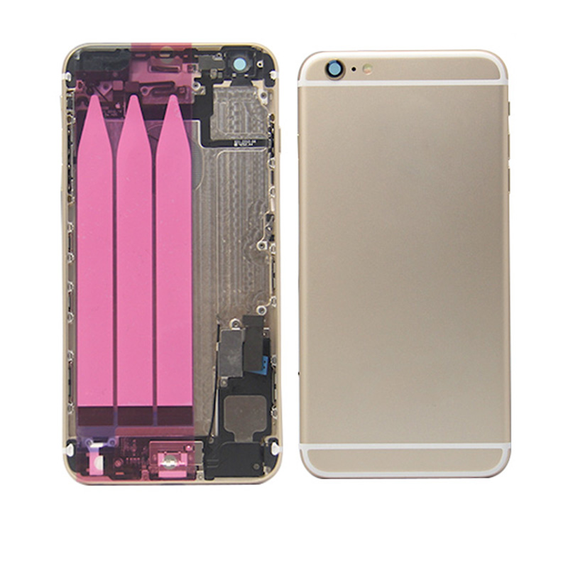Back Housing Cover with Flex Cable Full Assembly Replacement For iPhone 6 Plus - Gold