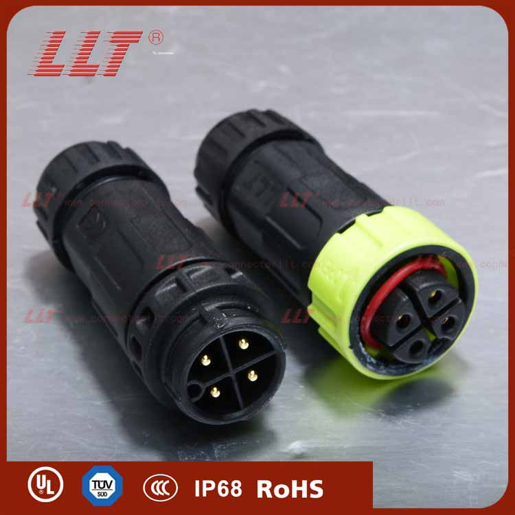 M19 4 pin Push Lock electric waterproof connector