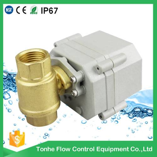 "DN15 NSF61 1/2"" 12V/24V Brass Electric Ball Valve price CR202 Two Wires"