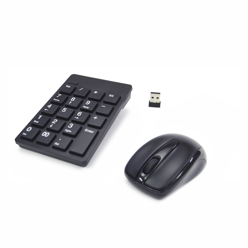 Wireless 2.4GHz Optical Mouse Keypad Combo