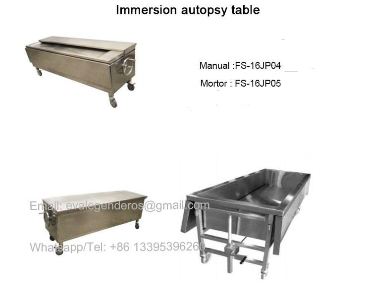 Funeral Embalming Table, Medica Autopsy Table, Mortuary Table, Dissecting Table