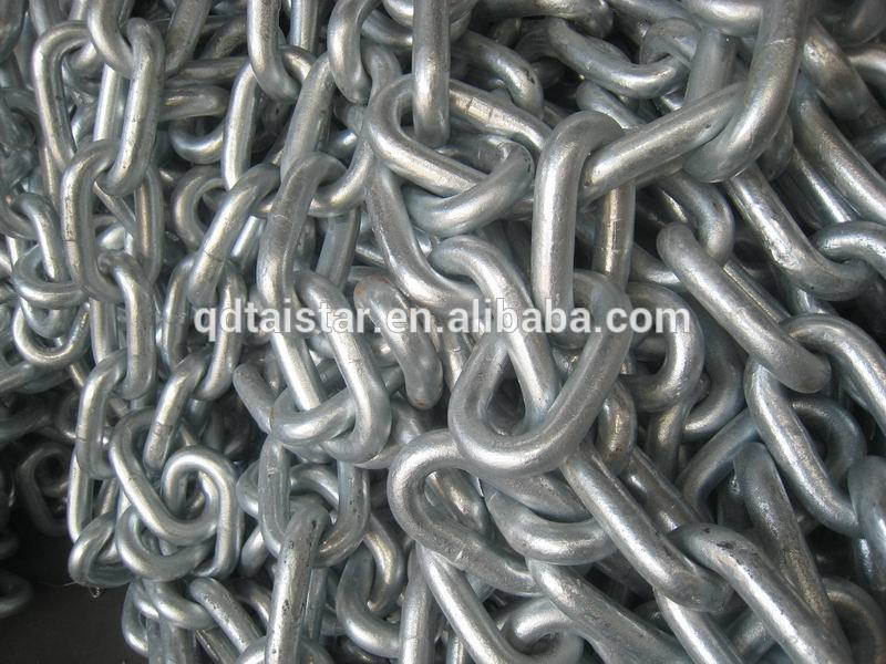 Self-color HDG Black open link anchor chain Grade 1 Grade2 Grade3 Stainless steel