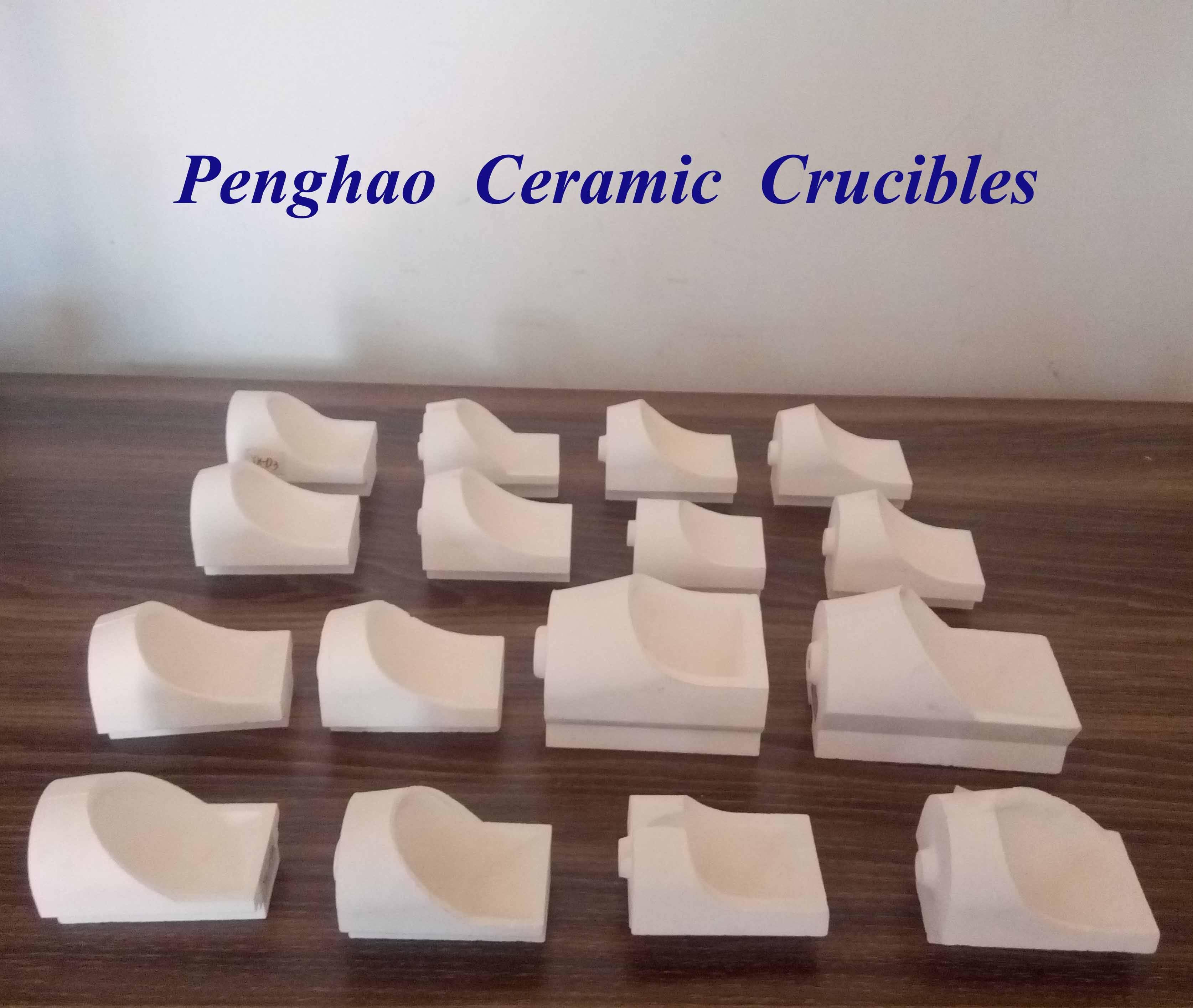 Horizontal Dental Crucibles for flame melting
