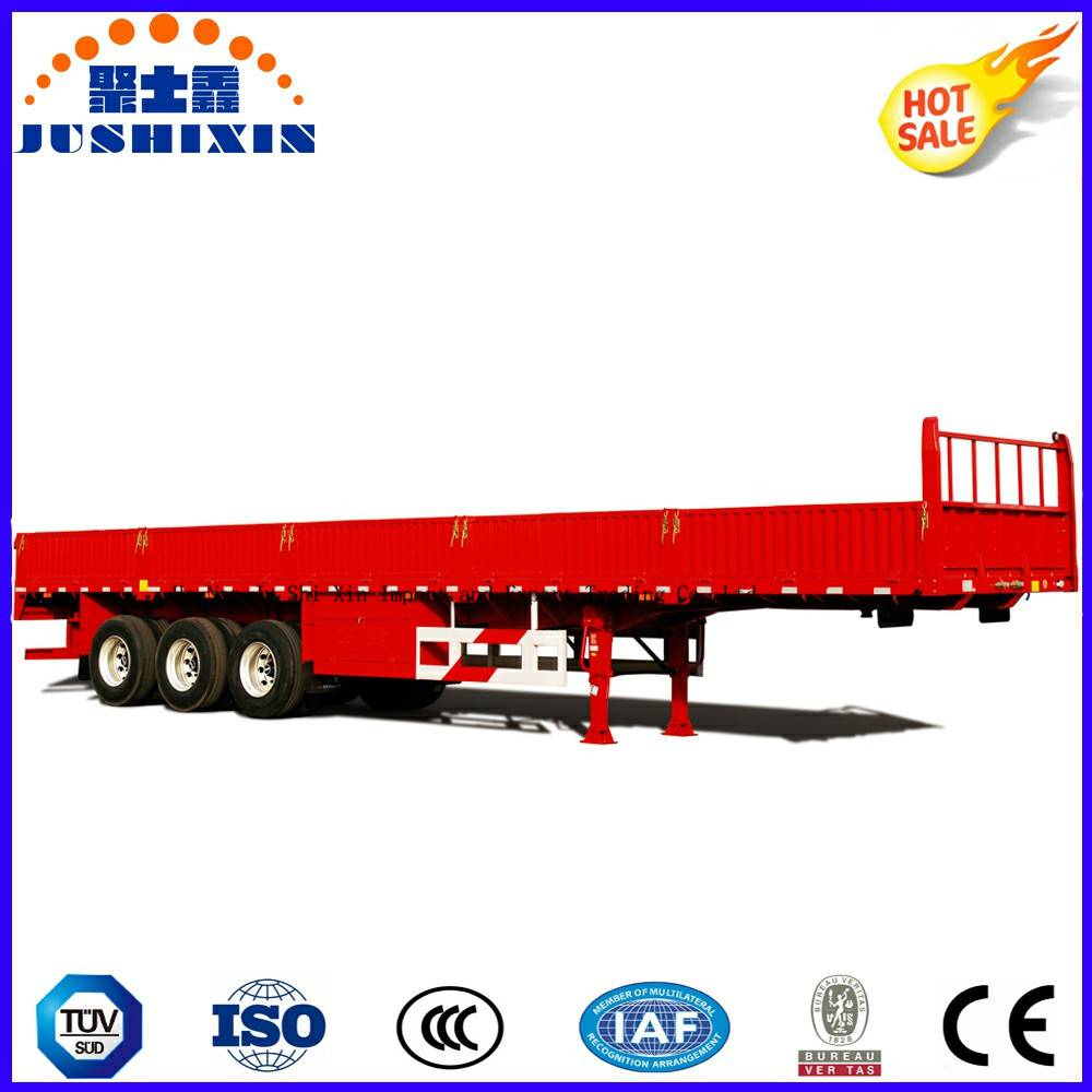 Competitive Factory Price 3 Axles Side Wall/Fence Flatbed Semi Truck Superlink Interlink Cargo/Utili