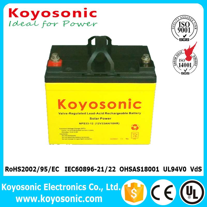 Reliable Quality 12v 33ah Solar System Battery Off-Grid Power Battery