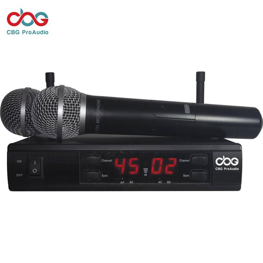 iWP-2100  100 CHN UHF PLL Dual Wireless Microphone