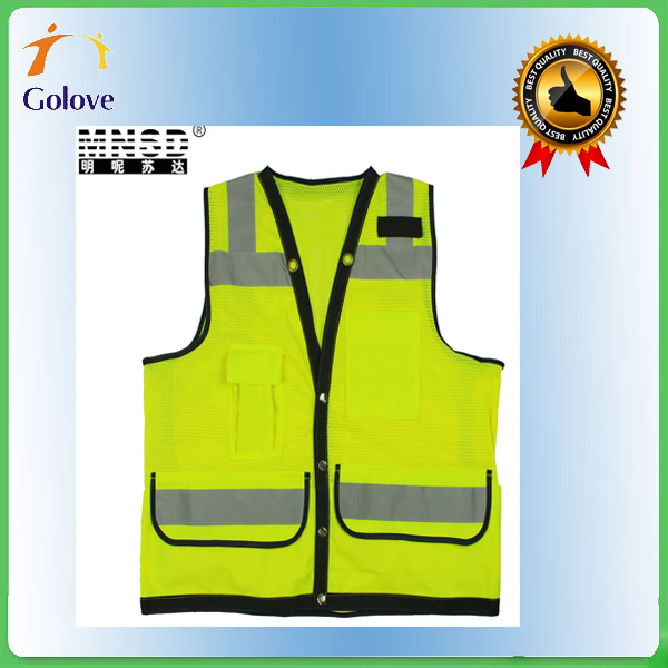 golden supplier oem high visibility polyester reflecting vest