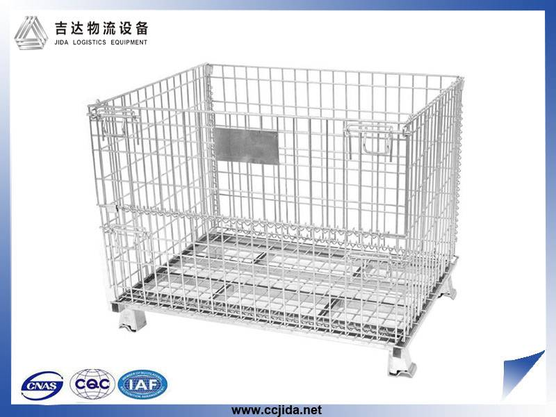 collapsible steel storage cage container