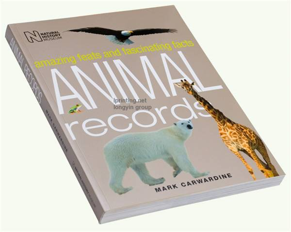Animal paperback Printing,Softcover Book Printing Service,Softcover Book
