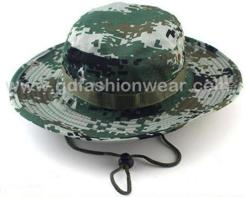 Wide Brim Camo Bucket Hat