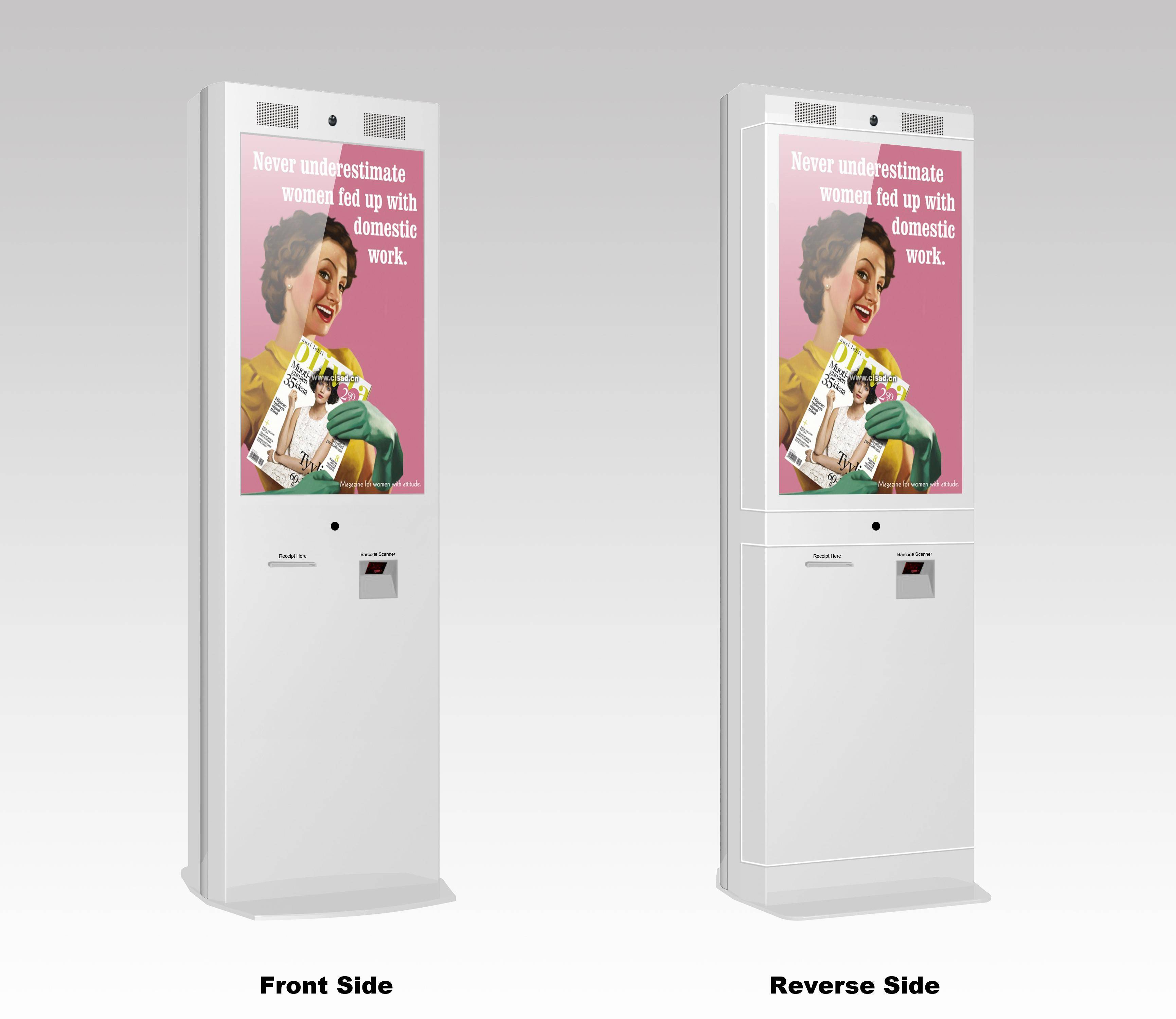 Free Standing Signage Kiosk, High-stability, Interactive Way Finding, Water-resistant
