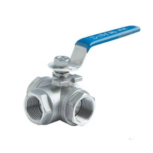 three way demale threaded ball valve
