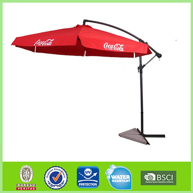 OEM and ODM Windproof Sun protection cantilever uv patio beach umbrella