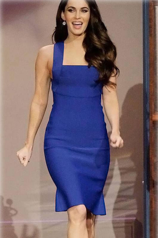Elegant Royal Blue Wide Straps Bodycon Dress