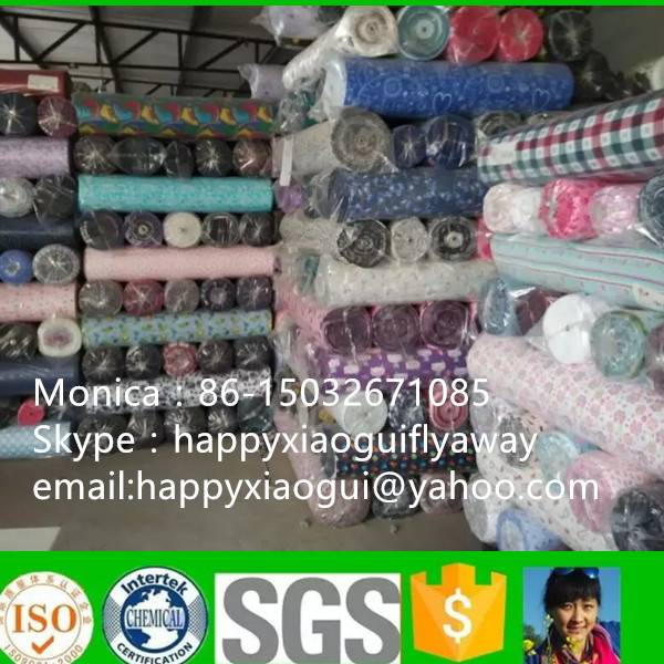 cotton flannel stocklot fabric shijiazhuang factory