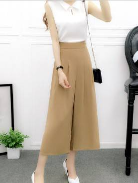 OEM womens loose trousers european style ladies chiffon pants lady fashion garment factory low waist