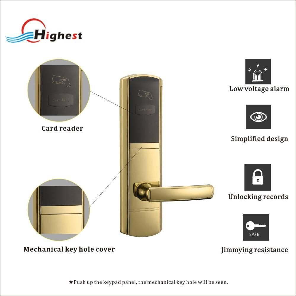 RX1068E-J RFID electric hotel door lock system price management software hotel door lock