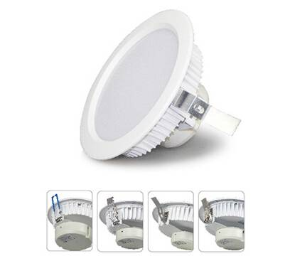 Dimmable 1450 Lumen White Round Downlight 18w in Cool White