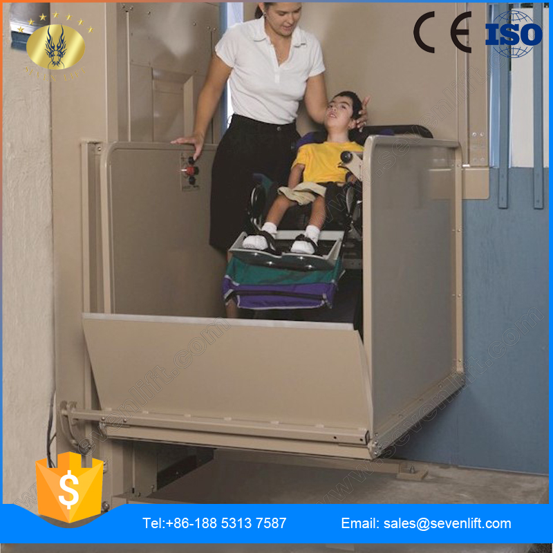 7LSJW Shandong SevenLift one floor home mini disabled wheelchair lift