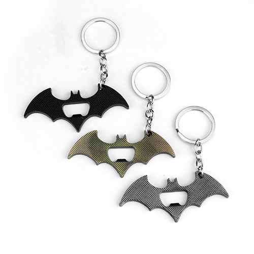 Cool Metal Bat Bottle Opener Keychain