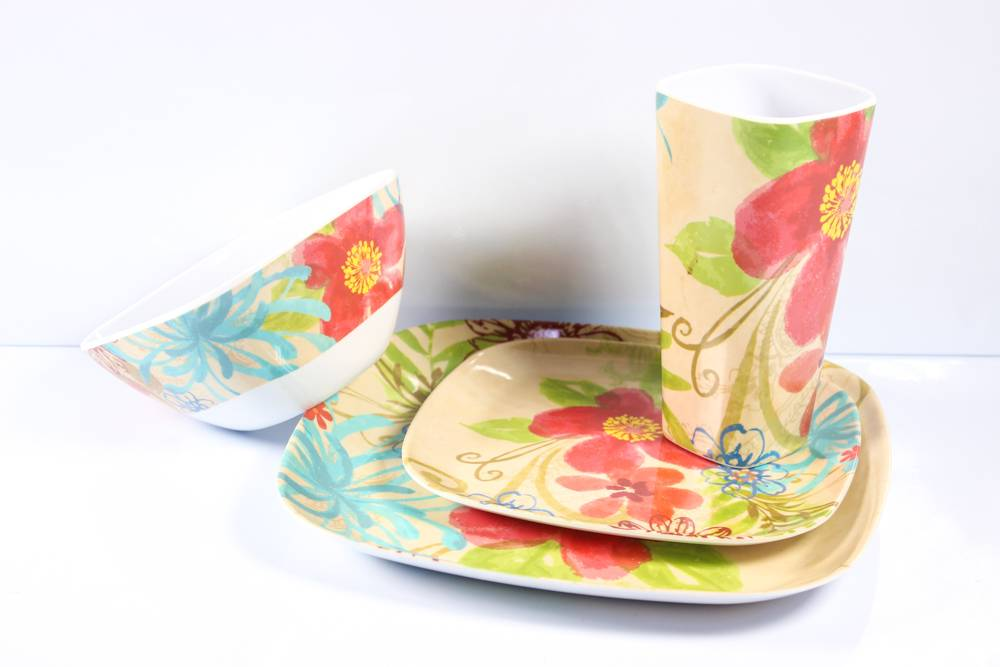 4pcs mixing melamine dinnerware set