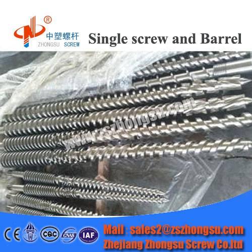 plastic recycling bimetallic conical twin screw barrel