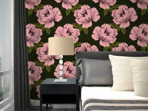 New Collection Floral Design Home Interior Decoration Nonwoven Wallpaper for Sale