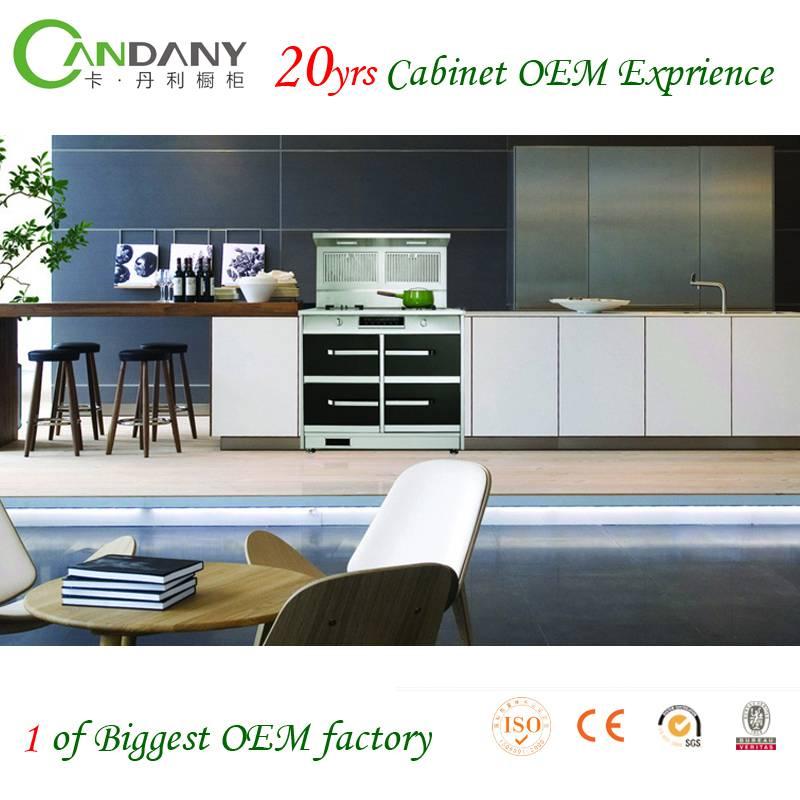 Foshan Candany Eco-friendly Acrylic&Melamine Kitchen Cabinet American style