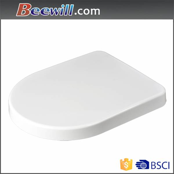 D shape soft close duroplast toilet seat