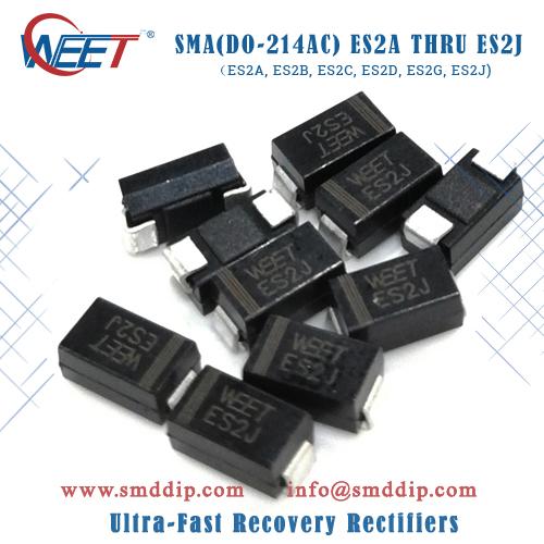 WEET SMA(DO-214AC) ES2A THRU ES2J (ES2A, ES2B, ES2C, ES2D, ES2E, ES2G, ES2J) Ultra-Fast Rectifiers
